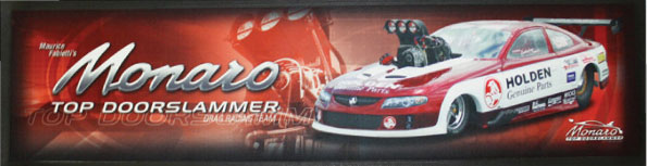 Promotional Bar mat for some drag car racers