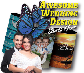 Wedding Stubby Holders with awesome design