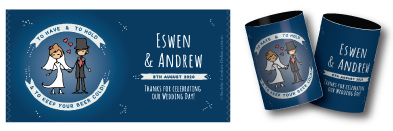 Eswen & Andrew's wedding Stubby Holders