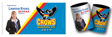 Narangba Crows Football Club stubby coolers